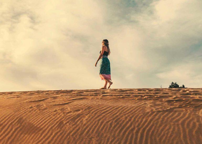 woman desert